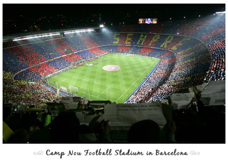 Camp Nou Football Stadium in Barcelona